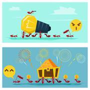 Business Idea series Business Team concept Stock Illustration