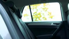 Slowmotion view on back seats in car Stock Footage