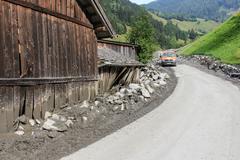Rauris, Salzburg Austria - August 27, 2015: Mudslides in Austria following he - stock photo