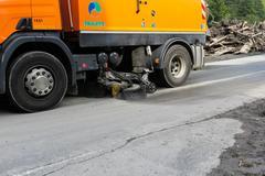 Rauris, Salzburg Austria - August 27, 2015: Mudslides in Austria following he Stock Photos