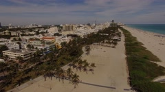 Aerial Art Deco District Miami Beach Stock Footage