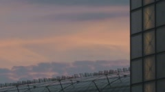 Berlin Pink Clouds And Central Station Stock Footage