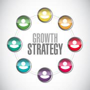 Growth Strategy global network sign - stock illustration