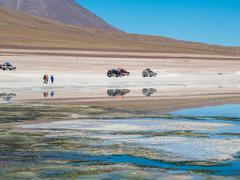 Road trip in the Andes - stock photo