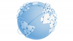 Global Network Growing on the Earth. Business concept 3d animation. - stock footage