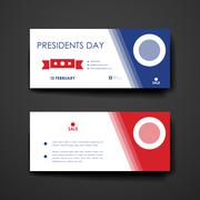 Stock Illustration of Set of modern design banner template in Presidents Day style