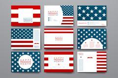 Set of modern design banner template in Presidents Day style Stock Illustration