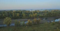 Panoramic Autumn landscape. - stock footage