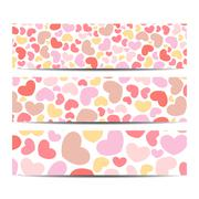 Set of vector banners. Background with hearts . Web banners, card, vip - stock illustration