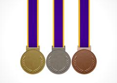 First Second And Third Medals - stock illustration