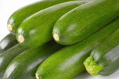 Detail of fresh green courgettes Stock Photos