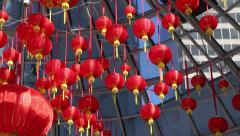 Chinese New Year, Vancouver, commercial centre Stock Footage
