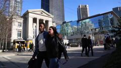 Vancouver downtown, Art Gallery, Robson square Stock Footage