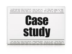 Stock Illustration of Studying concept: newspaper headline Case Study