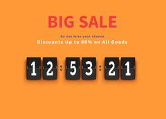 Opening Soon. Big Sale Countdown - stock illustration