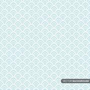 Wallpaper seamless pattern in vintage style - stock illustration