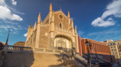 San Jeronimo el Real is a Roman Catholic church timelapse hyperlapse from the Stock Footage