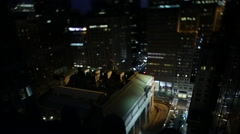 NYC Street View from Rooftop - stock footage