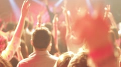 Young people can come to the concert music live cheerful atmosphere in Stock Footage