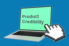 Product Credibility concept Stock Illustration