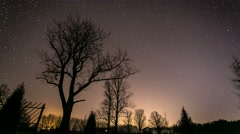Timelapse at night with stars 4K Stock Footage