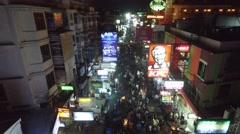 Aerial Khao San Road Bangkok Stock Footage