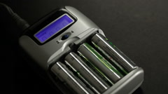 Charging Rechargeable Batteries Stock Footage