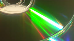 A green light effect on a compact disc Stock Footage
