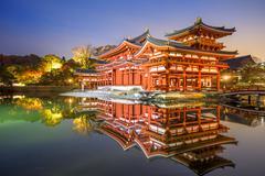 Byodoin Phoenix Hall of Kyoto Kuvituskuvat