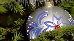 A nice christmas tree ornament zoom out - stock footage