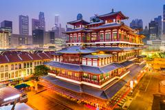 BuddhaTooth Relic Temple of Singapore - stock photo