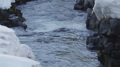 120fps slow motion rapid river melting snow close up Red Dragon Camera Stock Footage