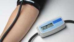 Blood pressure measurement procedure Stock Footage