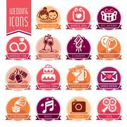 Wedding icon set. Stock Illustration