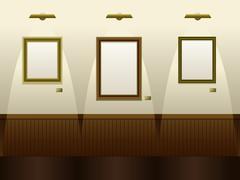 Gallery Stock Illustration