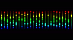 Audio equalizer bars moving Stock Footage