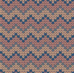 Stock Illustration of Seamless knitting zigzag pattern