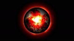 Orbs - Fire Energy on Black Stock Footage
