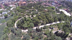 Aerial View of the Colosseum in Rome, Italy Stock Footage