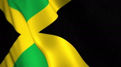 Jamaican flag waing with room for text, logos, graphics and titles Stock Footage