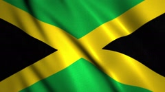 Jamaican flag waing with room for text, logos, graphics and titles - stock footage