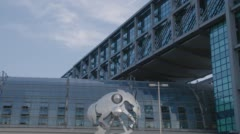 Berlin Iron Horse Main Station Stock Footage