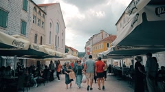 Sinj Pijaca main square Stock Footage