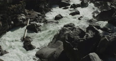 60fps slow motion rapid river white water close up Red Dragon Camera Stock Footage