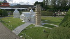 Famous scale models from Italy displayed at Mini-Europe, Brussels Stock Footage
