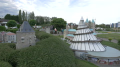 Jahrtausendturm and other scale models displayed at the Mini-Europe, Brussels Stock Footage