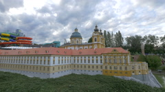 The Melk Abbey, displayed at the Mini-Europe, Brussels Stock Footage