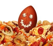 Football Game Snack - stock illustration