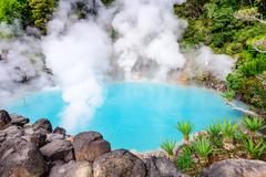 "Sea ""Hell"" Hot Spring of Japan - stock photo"