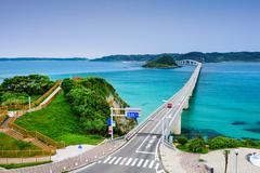 Tsunoshima Bridge in Japan Stock Photos
